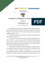 Hotărâre nr. 225 CSM din 15 octombrie 2019