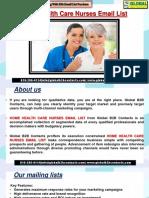 Home Health Care Nurses EmailList