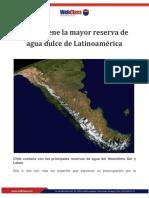 ARTÍCULO - CHILE MAYOR RESERVA DE AGUA