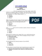 Organizational Behaviour - MGT502 Spring 2008 Quiz 03 Solution.doc