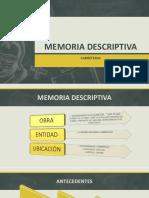 DIAPOSITIVAS DE MEMORIA DESCRIPTIVA