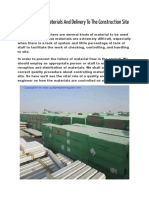 How To Control Materials And Delivery To The Construction Site