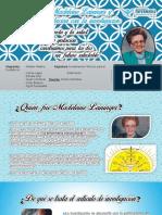 MADELEINE LEININGER Y SU TEORÍA TRANSCULTURAL EN GESTANTES