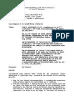 Case Digest Basic Legal Ethics Subject ZOILO ANTONIO VELEZ, complainant, vs. ATTY. LEONARD S. DE VERA, respondent [A.C. No. 6697, 25 July 2006]
