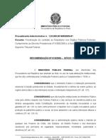 Mpf 13-2009 - Recomendacao - Orgaos Federais - Nepotismo