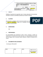 P - PRC-SST-024 Procedimiento Seguro de Trabajo para Uso de Herramientas Manuales