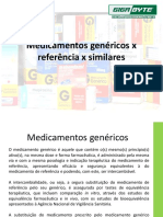 Medicamentos genéricos x referência x similares