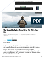 The Secret to Doing Something Big With Your Life _ RELEVANT Magazine