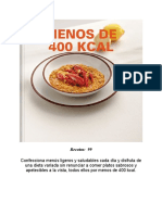 MENOS DE 400  KCAL