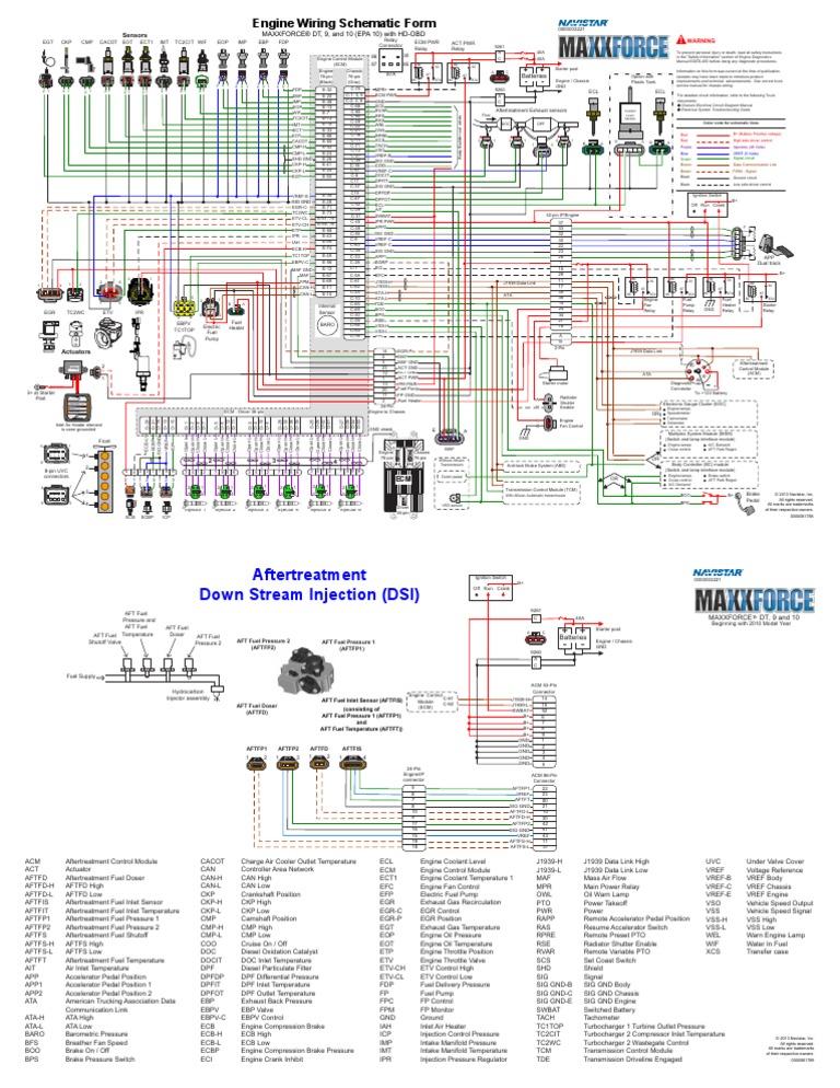2013 maxxforce dt, 9, 10 wiring diagrams | electronics | engines  scribd