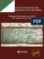 Análisis cuantitativo del paramilitarismo en Colombia