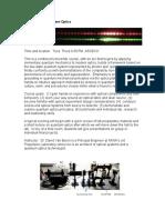 201912012 Optics Lab Course Description