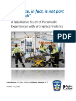 Mausz & Johnston 2019 - Paramedic Experiences With Workplace Violence