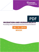 Proceedings of the international scientific-practical conference Migration and Human Rights