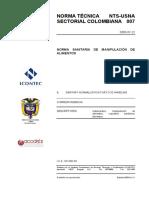 NTS-USNA 007 -2005 Manipulación de alimentos.pdf