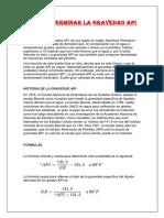 COMO DETERMINAR LA GRAVEDAD API