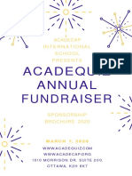 acadequiz annual fundraiser