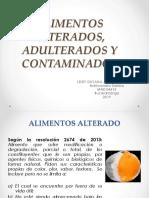 MODULO 4. ALIMENTOS ALTERADOS, ADULTERADOS Y CONTAMINADOS