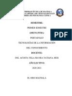 Universidad Técnica de Machala Tic