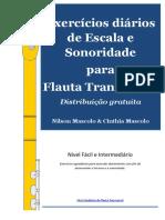 Flauta - Exercícios diários de escala e sonoridade para Flauta Transversal - Nilson Mascolo & Cinthia Mascolo