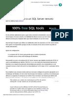 Cómo Conectarse a Un SQL Server Remoto
