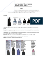 Attire and Fabrics of Saudi Arabia
