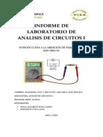 LABORATORIO DE ANÁLISIS DE CIRCUITOS I