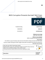 BIOS Corruption Prevents the Intel® NUC From Starting