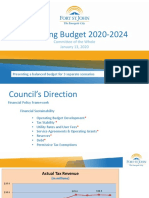 Fort St. John 2020 Draft Operating Budget Presentation