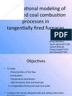 Computational Modeling of Pulverized Coal Combustion Processes In