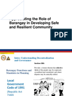 Appreciating the Role of Barangay in Developing Safe and Resilient Community