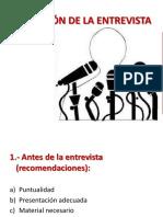 REALIZACIÓN DE LA ENTREVISTA