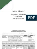 PLANEACIÓN ARTES MUSICA 3 2019-2020
