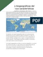 Regiones Biogeográficas Del Mundo y Sus Características