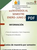 Junta Informativa Maestria Enero - junio 2020