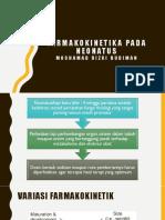 FARMAKOKINETIK NEONATUS