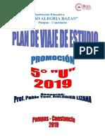 PLAN DE VIAJE DE ESTUDIO DE LA PROMOCION CAB 2019