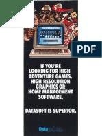 Datasoft Catalog From 1983