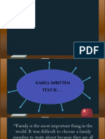 PROPERTIES OF A WELL-WRITTEN TEXT
