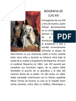 BIOGRAFIA DE LUIS XIV