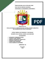 """EVALUACIÓN DE LA VEGETACIÓN DEL PASTIZAL ESTEPA ARBUSTIVA EN CUADRANTES DE PUNTO CENTRADO."""""""