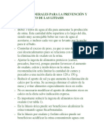 MEDIDAS GENERALES PARA LA PREVENCIÓN Y TRATAMIENTO DE LAS LITIASIS