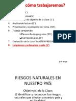 RIESGOS NATURALES EN NUESTRO PAÍS