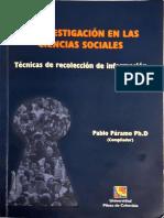 La investigación en las ciencias sociales_sacar metodos investigacion
