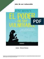 Descargar Libros Gratis El poder de ser vulnerable PDF ePub Mobi Autor Brené Brown.pdf