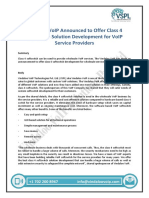 Vindaloo VoIP Announced to Offer Class 4 Softswitch Solution Development for VoIP Service Providers