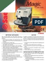saeco-magic-deluxe-user manual