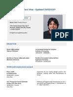 Curriculum Vitae  - updated 2901 - fonseca
