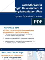 Sounder South Strategic Development and Implementation Plan - January 2020