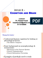 KMF1023 Module 2 Cognition the Brain - Edited